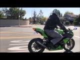 BEST Beginner Sport Bike Motorcycle 2013 Kawasaki Ninja 300 Street Ride Two Brothers Exhaust Sound