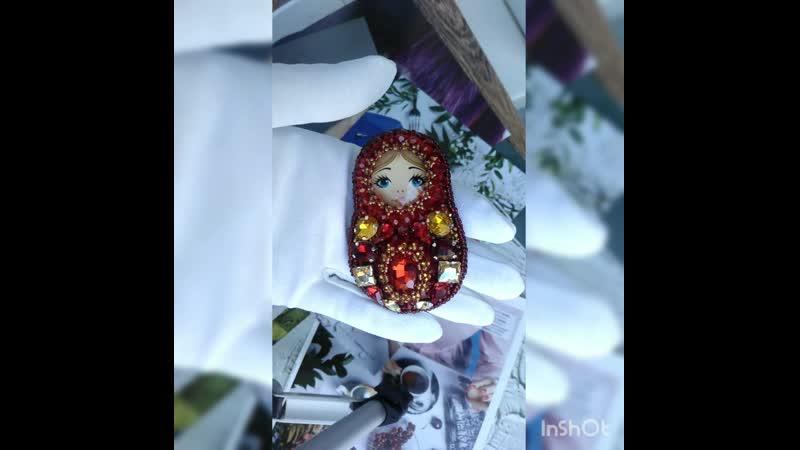 Брошь Матрешка