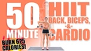 50 Minute HIIT Back, Biceps, and Cardio Workout 🔥Burn 625 Calories!🔥