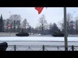 Проход танков на параде, посвященном 70-ти летию полного снятия блокады Ленинграда.
