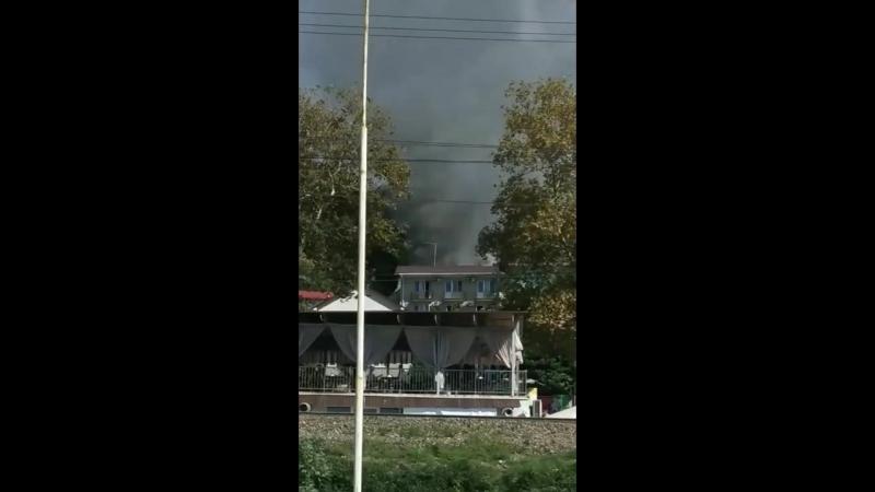 Пожар в Лоо