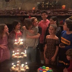 "Ava Kolker on Instagram: ""Had so much fun celebrating @prestynbates 13th bday with all our friends. #happybirthday #partytime"""