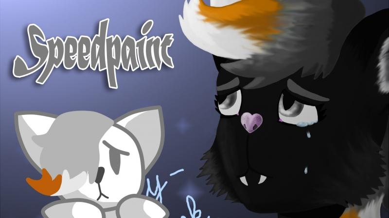 One Layer Challenge Speedpaint || Catty-Black [Happy Tree Friends OC]