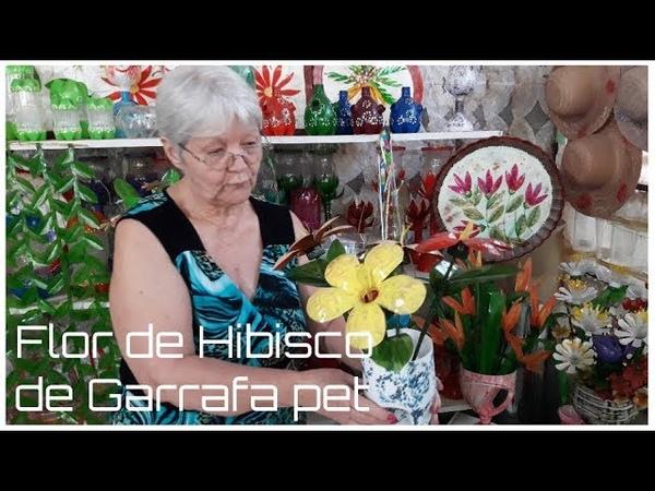 Flor de Hibisco de Garrafa pet   Vó Neide e suas pets