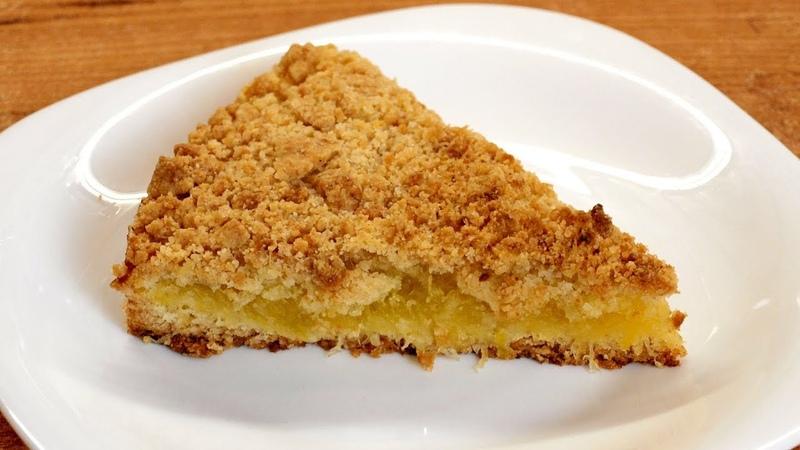 Насыпной тыквенный пирог из голосеменной тыквы с лимоном