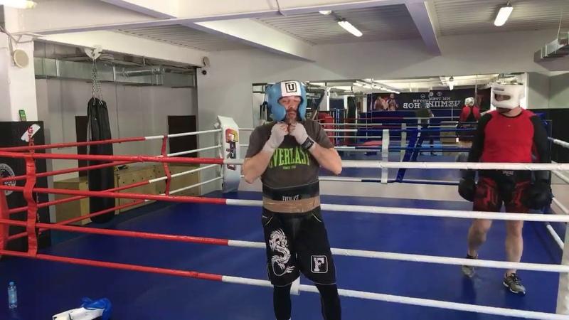 Бокс в GFG. Персональная тренировка спарринг.