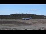 Посадка в Мурманске во время съёмок фильма