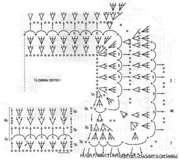 Вязание реглана описание схемы