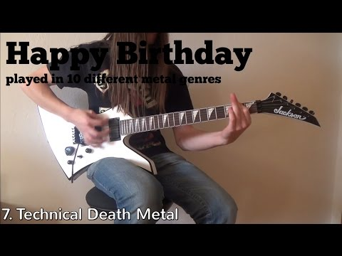 Happy Birthday played in 10 different metal genres
