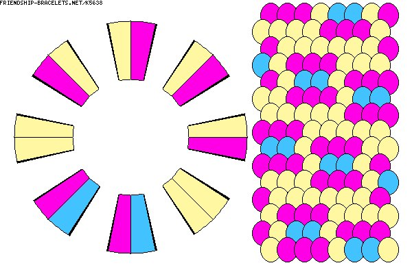 схему фенечки-конфетки на
