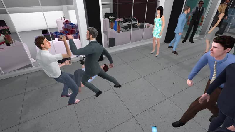 Мужик беспределит на свадьбе - Drunkn Bar Fight