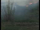 В районе шахт под Челябинском начался пожар. Огонь подобрался к кладбищу