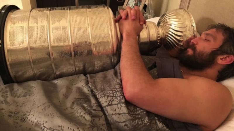 Stanley Cup сelebration of Ovechkin and buddies. Part II / Овечкин c корешами обмывает Кубок Стэнли