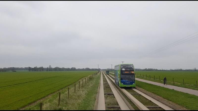 Cambridgeshire Busway B Full Route Visual- Peterborough to Cambridge