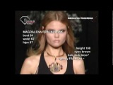 fashiontv   FTV.com - MAGDALENA FRACKOWIAK MODELS SS 09 MILAN
