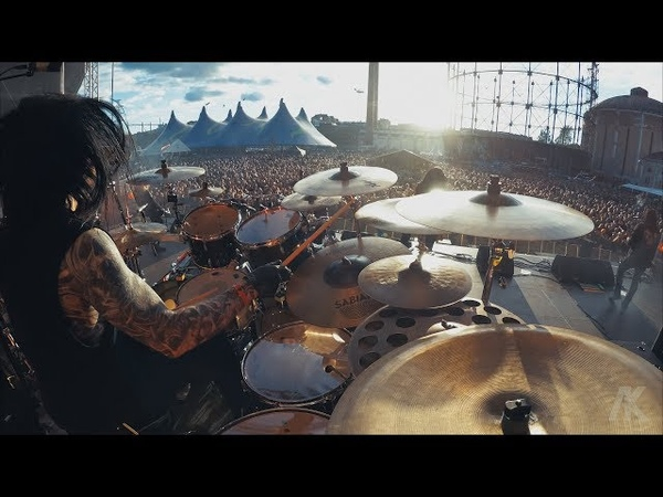 Daniel Erlandsson Drumcam 'As The Pages Burn ' / Tuska Festival 2018