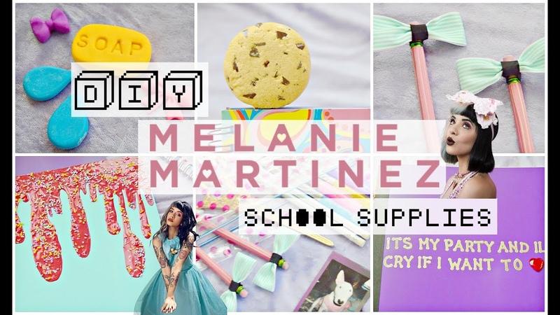 DIY Melanie Martinez School Supplies Notebooks Erasers and more EASY Back To school DIY's