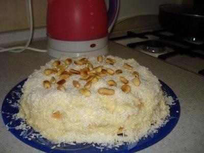 Любимый кокосовый торт без выпечки