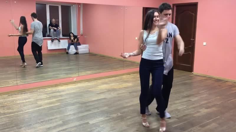 Dmitry Grechnev Katrin Maslennikova | Urban Kiz demo after class (October 2018) 🎥