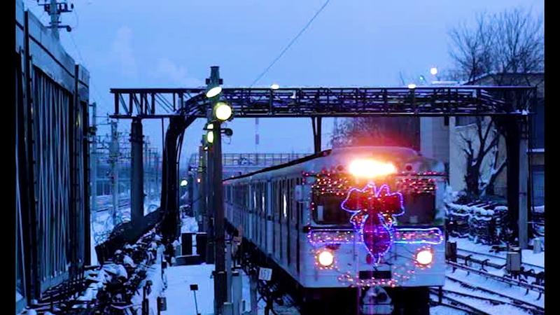 Новогодний Еж3 прибывает на станцию Выхино