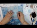 Глубокое синие море Художественные навыки в Декупаже Наталья Каримова