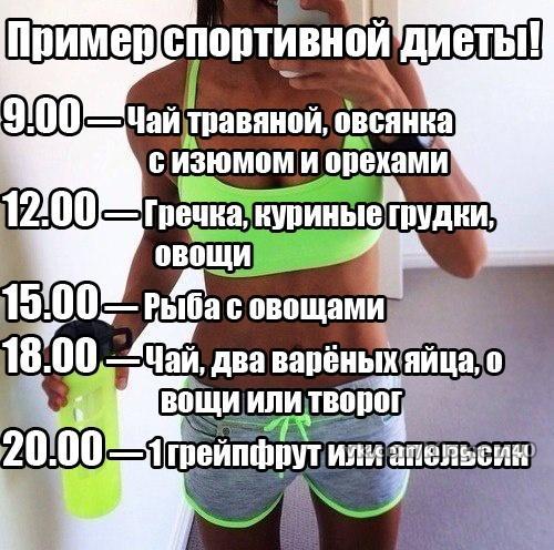 Спортивное диета