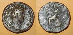 Древнеримские женщины-богини, монеты, Италия