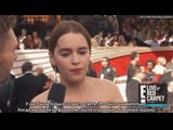Emilia Clarke on Game of Thrones Finale It Will Shock People E Red Carpet Award Shows [RUS SUB]