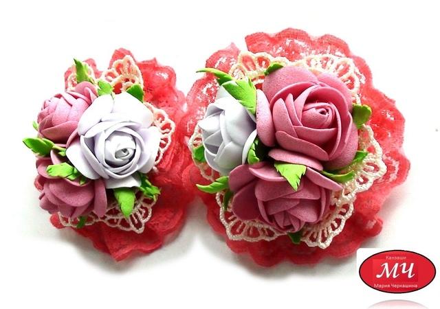 МК очень простых и красивых розочек из фоамирана. Канзаши и цветы из лент. DIY rose from foam sheets