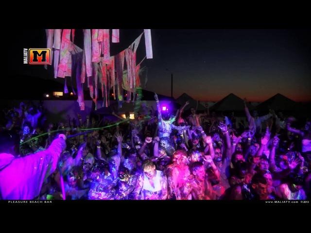 MaliaTV - Paint Glow Party @ Pleasure Beach Malia 2013 (part 2) (Hardwell Ft Amba Shepherd - Apollo)