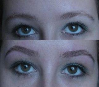 Визуальная коррекция овала лица при помощи бровей.  Окрашивание бровей и ресниц.