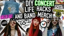 DIY Band Merch and Concert Life Hacks T shirts Clothes Makeup and more Projects