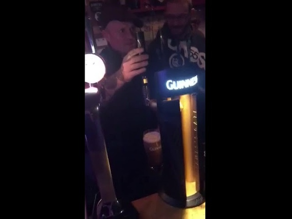 Keith Flint, The prodigy front man pulling a pint