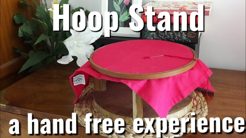 How to make an embroidery hoop stand.