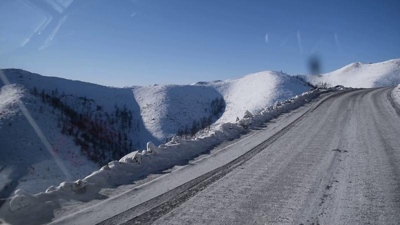 Большой Ольчан. Горный перевал автодороги Яна Республики Саха (Якутия) (в сторону с. Тополиное)