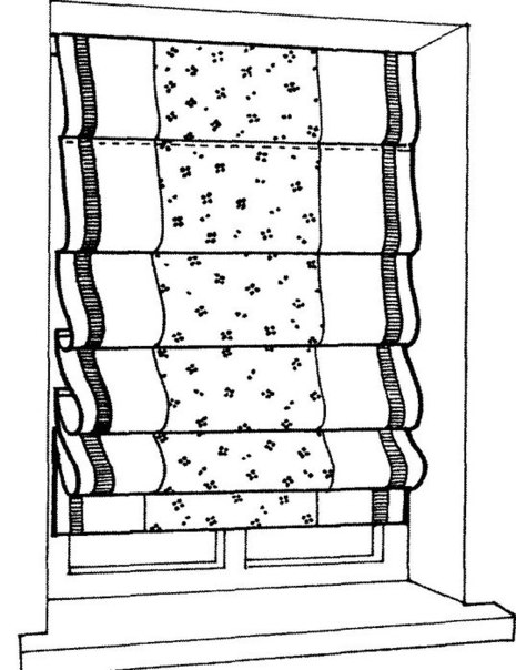 5 - Как шить римские шторы