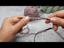 Несколько основных способов набора петель спицами