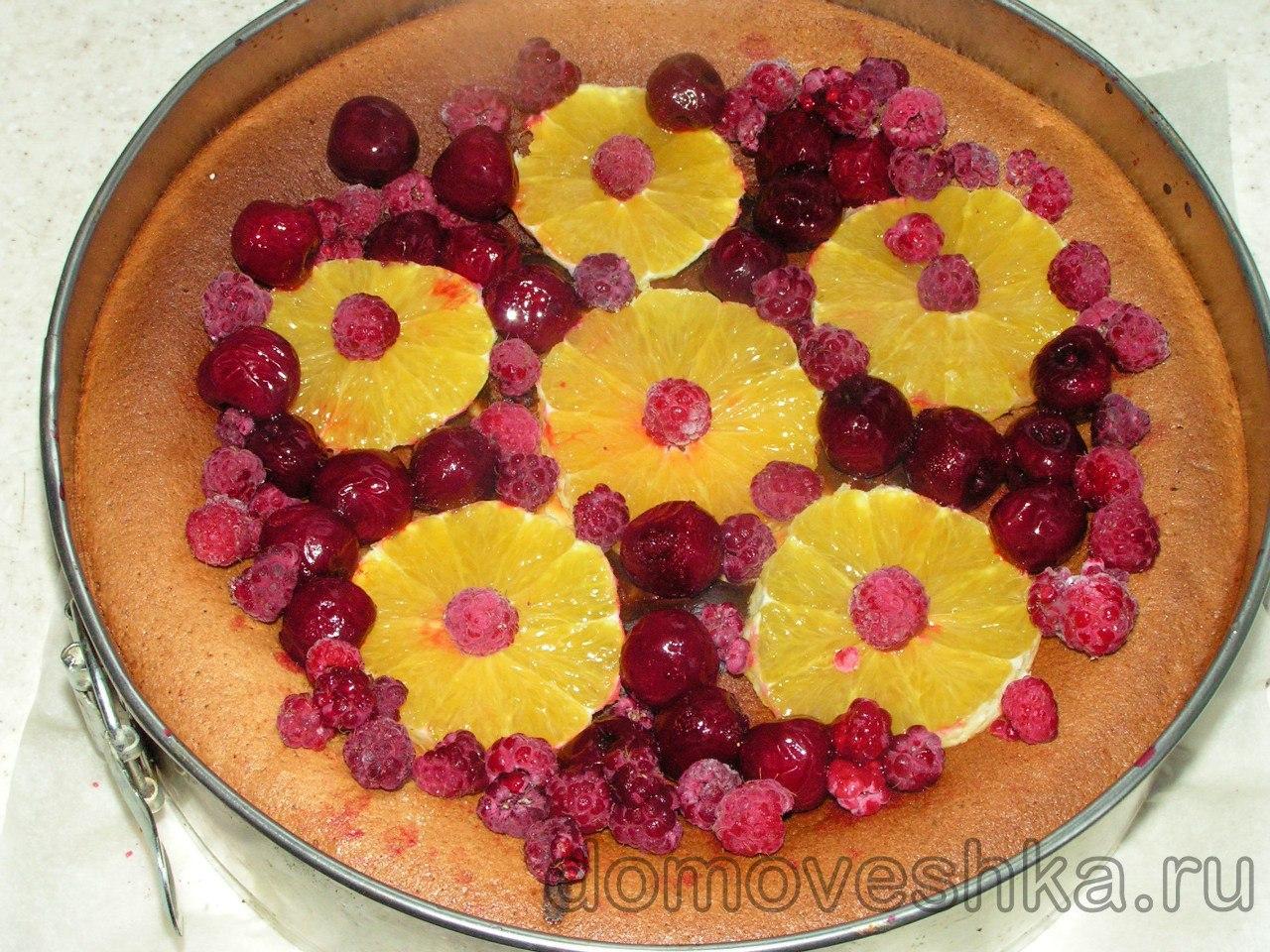фруктово-ягодный чизкейк