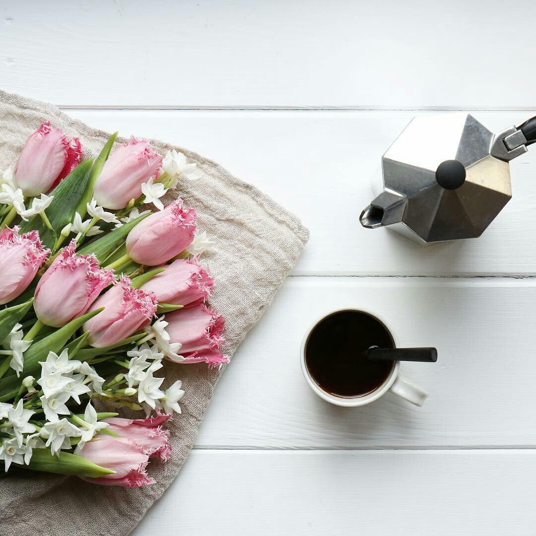 тюльпаны кофе турка