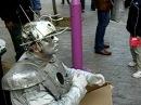 Robot in Ermou street Athens Pantomime