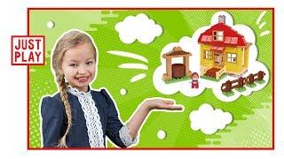 МАША И МЕДВЕДЬ - СТРОИМ ЛЕТНИЙ ДОМ МАШИ! Masha and The Bear Masha's house!