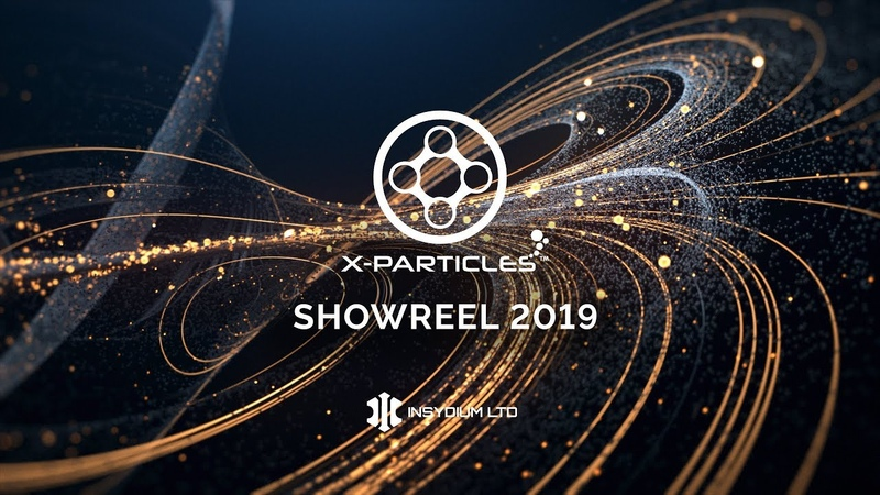 X Particles SHOWREEL 2019 rendered in Cycles 4D
