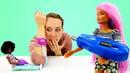 Видео для девочек. Барби - медсестра. Играем в куклы Barbie