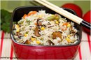 Невероятно вкусный рис с овощами и грибами