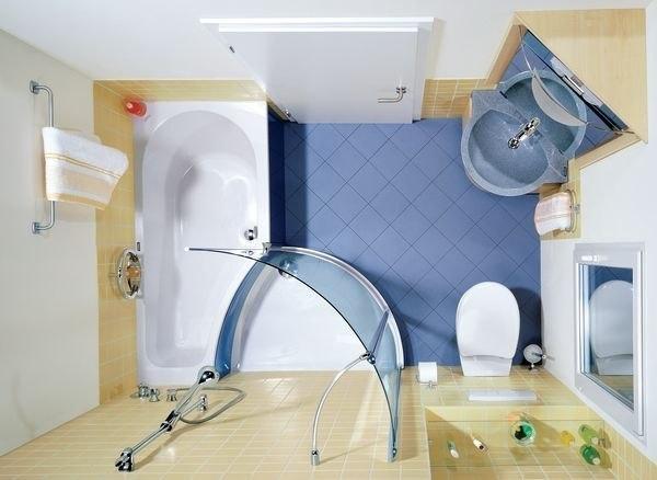 Отличное решение для небольших ванных комнат.