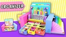 DESKTOP ORGANIZER from Cardboard - Back to school   aPasos Crafts DIY