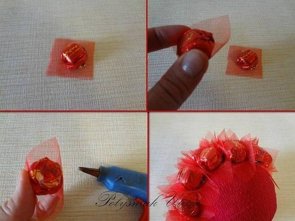 Поделки из конфет своими руками для начинающих пошагово