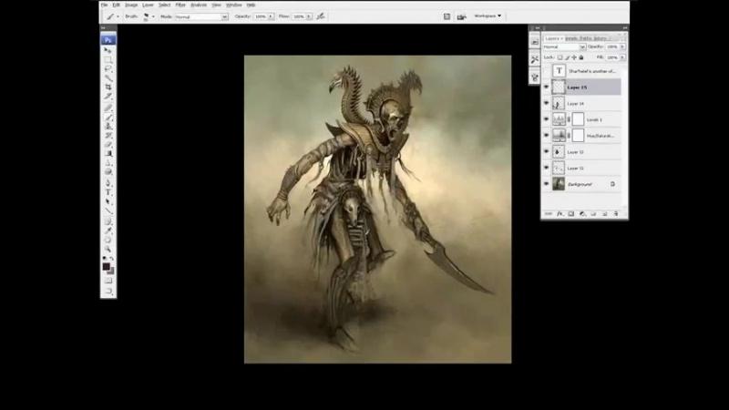 The Art of Daarken (Video Tutorials) - Liche Priest Part 2