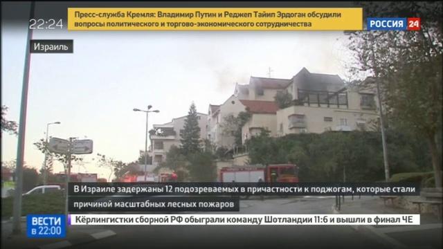 Новости на Россия 24 • В Израиле задержали подозреваемых в массовых поджогах