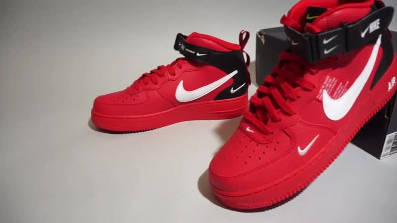 Nike Air Force 1 Mid 07 LV8 University Red White 804609-605 (1)